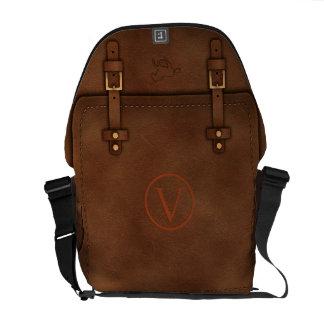 "satchel Pony Express leather Monogram ""V"" Commuter Bags"