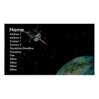 Satellite above Earth Business Card Templates