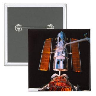 Satellite Docked on Space Shuttle 15 Cm Square Badge