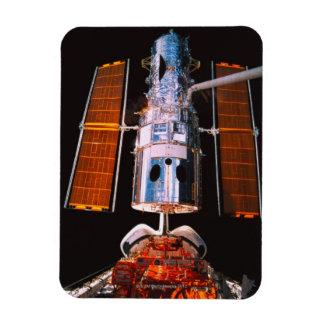 Satellite Docked on Space Shuttle Rectangular Photo Magnet
