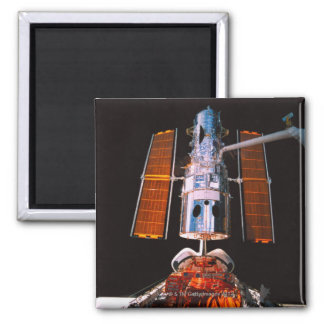 Satellite Docked on Space Shuttle Square Magnet