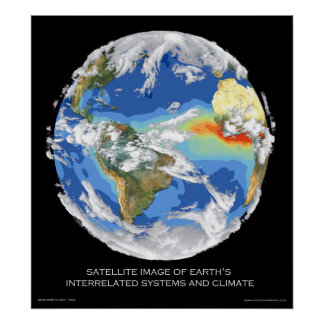 Satellite Image Earth's Systems and Climate Poster