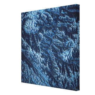 Satellite Image of Earth Stretched Canvas Prints