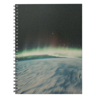 Satellite Image of Northern Lights Notebook