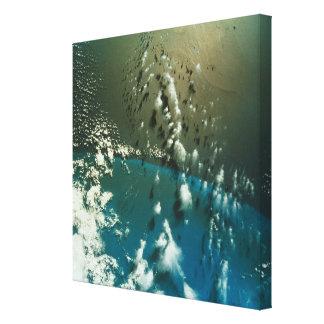 Satellite Image of The Florida Strait Canvas Print