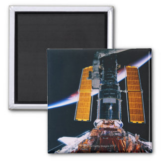 Satellite Launching from Space Shuttle Square Magnet