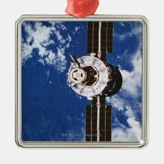 Satellite Orbiting Earth 2 Christmas Ornament