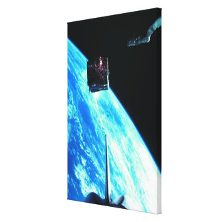Satellite Orbiting Earth 3 Gallery Wrap Canvas