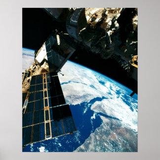 Satellite Orbiting Earth 5 Poster