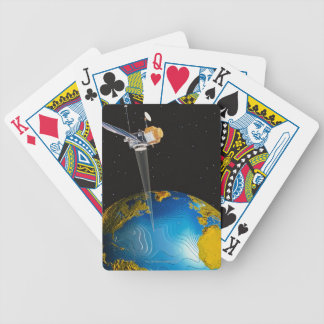 Satellite Orbiting Earth 6 Bicycle Playing Cards