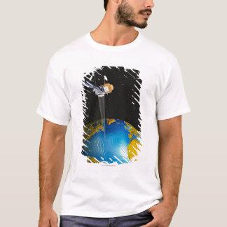 Satellite Orbiting Earth 6 T-Shirt