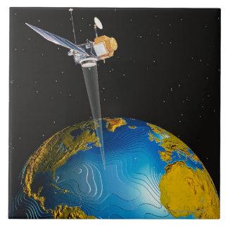 Satellite Orbiting Earth 6 Tile