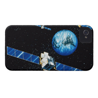 Satellite orbiting earth iPhone 4 covers