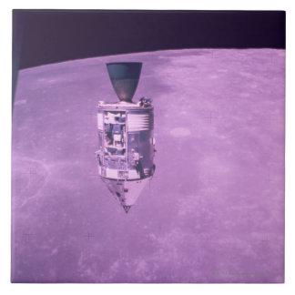 Satellite Orbiting Earth Tile
