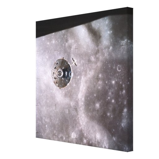 Satellite Orbiting in Space 2 Canvas Print