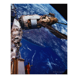 Satellite Orbiting in Space 2 Poster