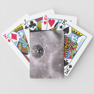 Satellite Orbiting in Space Bicycle Playing Cards