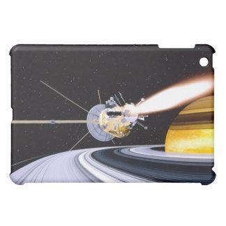Satellite orbiting Saturn iPad Mini Cover