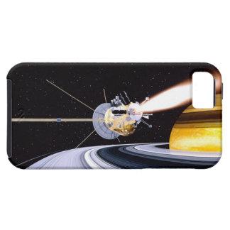 Satellite orbiting Saturn iPhone 5 Covers
