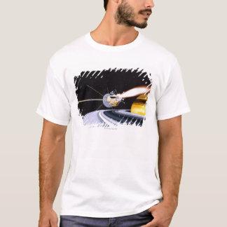 Satellite orbiting Saturn T-Shirt