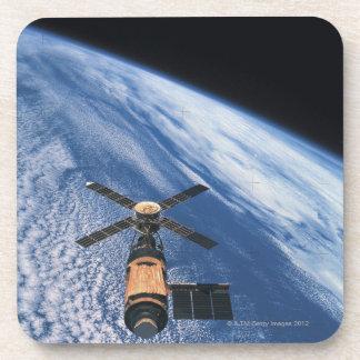 Satellite Orbiting Space Beverage Coasters