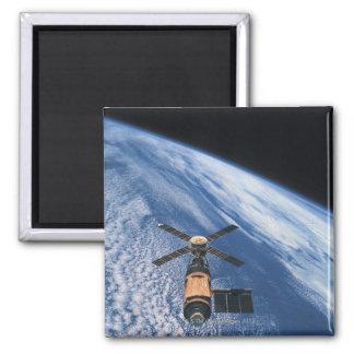 Satellite Orbiting Space Magnet