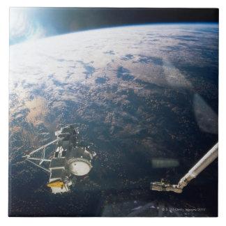Satellite Reflection Large Square Tile