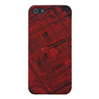 Satellite Stained Glass in Blood Red iPhone 5/5S Covers
