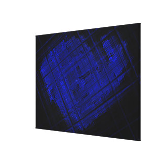 Satellite Stained Glass in Bold Blue Canvas Print