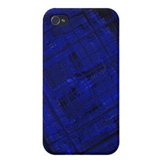 Satellite Stained Glass in Bold Blue Case For The iPhone 4