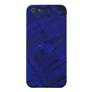 Satellite Stained Glass in Bold Blue iPhone 5/5S Cases