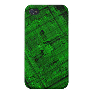 Satellite Stained Glass in Bright Green iPhone 4 Case