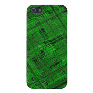 Satellite Stained Glass in Bright Green iPhone 5 Cases
