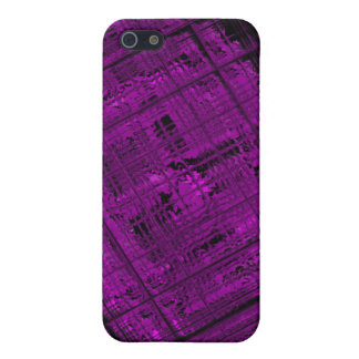 Satellite Stained Glass in Vibrant Purple iPhone 5 Covers