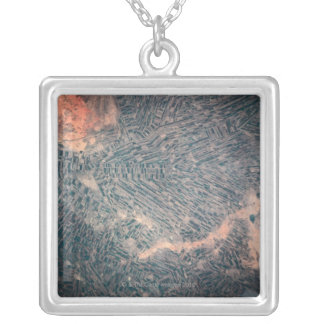 Satellite View 2 Silver Plated Necklace