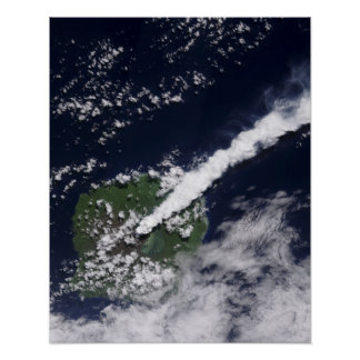 Satellite view of a thick, steam-rich plume poster