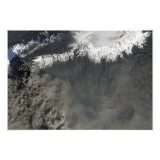Satellite view of an ash plume 2 photo print
