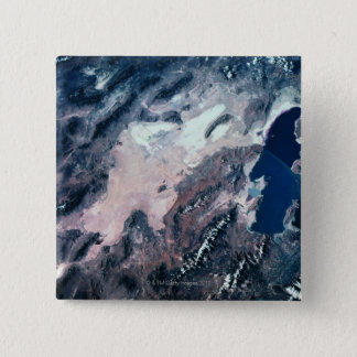 Satellite View of Earth 15 Cm Square Badge