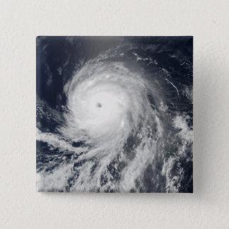 Satellite view of Hurricane Celia 15 Cm Square Badge