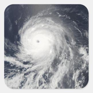 Satellite view of Hurricane Celia Square Sticker