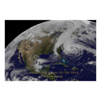 Satellite View of Hurricane Sandy 60x40 Poster