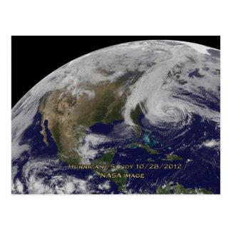Satellite View of Hurricane Sandy Postcard