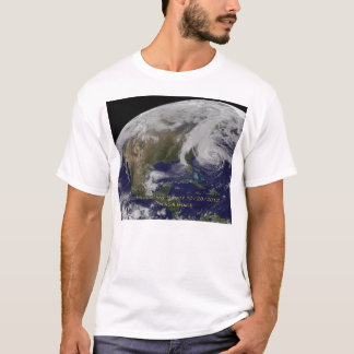 Satellite View of Hurricane Sandy T-Shirt