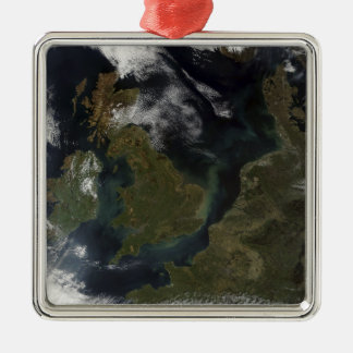 Satellite view of Northern Europe Christmas Ornament