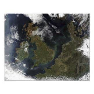 Satellite view of Northern Europe Photo Print