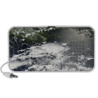 Satellite view of oil leaking 2 mini speakers