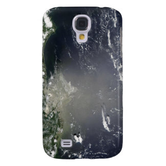 Satellite view of oil leaking galaxy s4 case