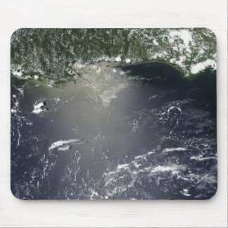 Satellite view of oil leaking mouse mat