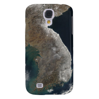 Satellite view of snowfall galaxy s4 case
