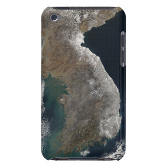 Satellite view of snowfall iPod touch Case-Mate case